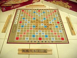 Scrabble board game.