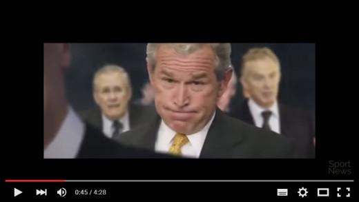 George Bush featured in Islamic State recruiting video as a Legislator; Trump's not.