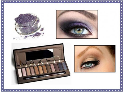 Select powder eye shadow, such as Urban Decay's Naked Palette, or Mattify Cosmetics Long Lasting Eye Shadow with built-in primer.