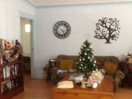Our small indoor Christmas tree with presents