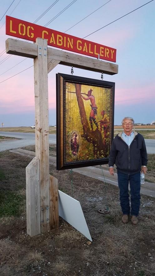 Doug Hall's Log Cabin Gallery Neosho, Missouri