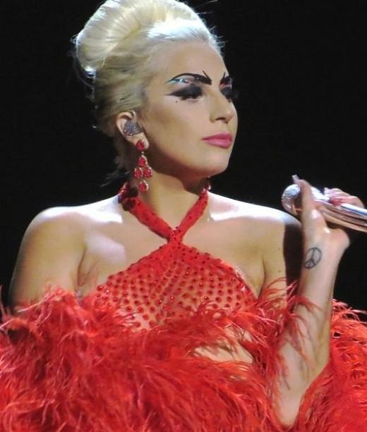 Gaga performing at the Cheek to Cheek Tour in June 2015. Photo Credit - https://en.wikipedia.org/wiki/Lady_Gaga