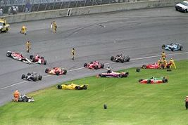 Aftermath of First Lap Crash of the 1996 US 500