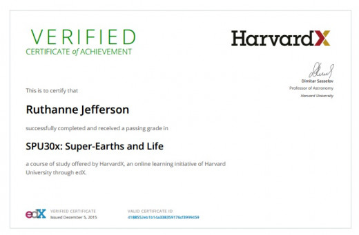 Verified Certificate of Completion with a passing grade.
