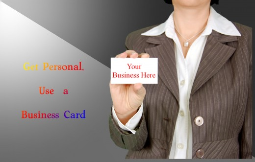 Business cards for the personal touch