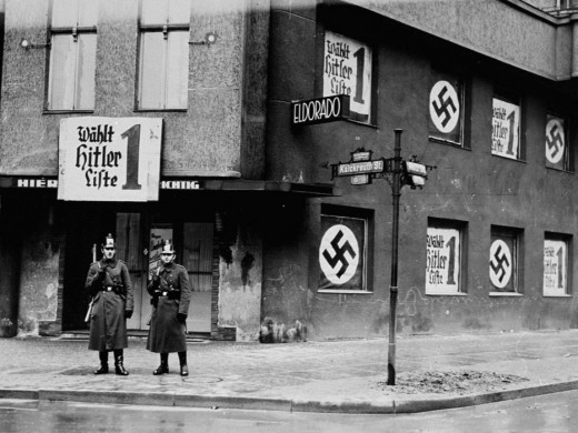 The Eldorado, a club where homosexuals socialized. Berlin, Germany, shown here closed.  March 5, 1933. —Landesarchiv Berlin