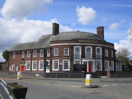 The English Rose Pub, Liverpool, England.