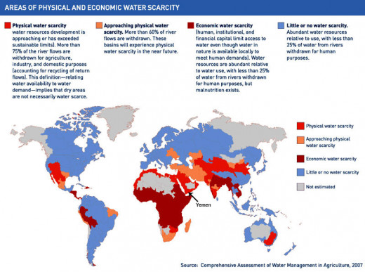 Areas of Physical and Economic Water Scarcity, 2007