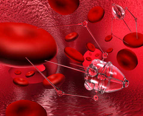Nano-bot in the blood stream