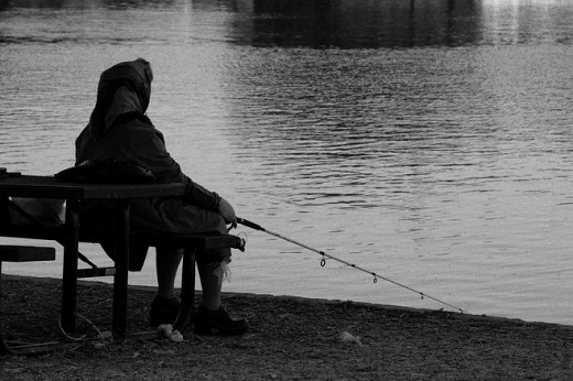 Lonely Lady Fishing