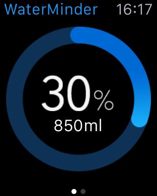 Water minder's Apple Watch App