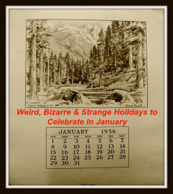 Weird, Bizarre and Strange Holidays to Celebrate in January