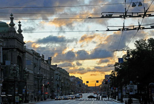 Early morning on Nevsky Prospect