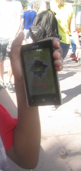 Epcot - Cellphone issued for Agent P's Around the World Showcase