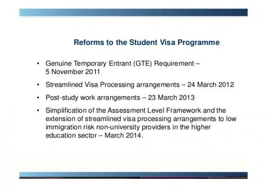 Australia Study Visa Reforms: Datewise