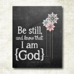 When Your Answer is Not the Answer (Be Still and Know He is God- a Poem)