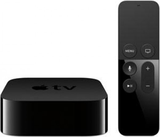 4th gen apple TV set top box and remote (with Siri)