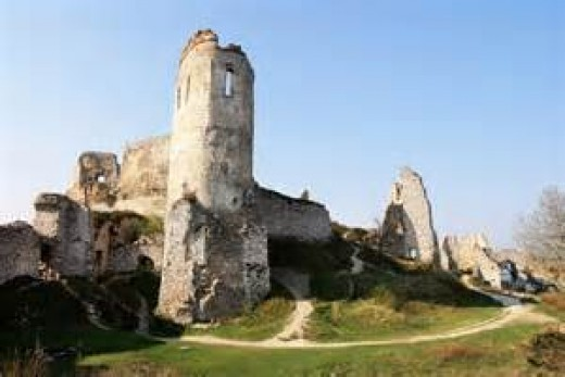 The Cachice castle, in present day Slovakia.