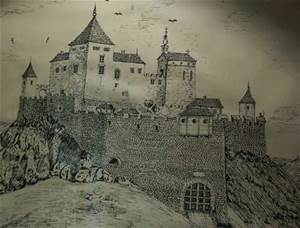 Drawing of what the castle looked like.