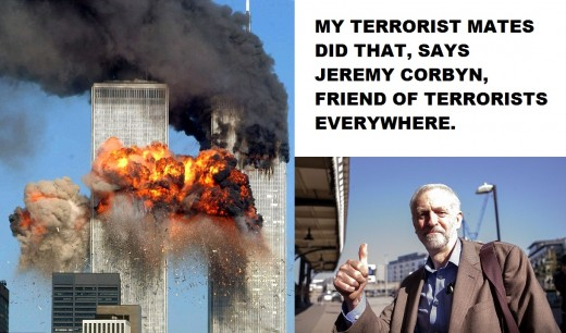 A Poster Attacking Corbyn's Views.