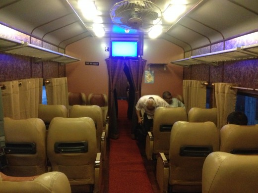 Luxury coach, Rajdhani, attached to morning train from Colombo to Galle