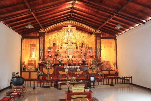 Buddhist prayer room