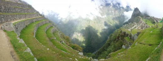 Here is a great view of Machu Pichu (on the right) Early one November morning.