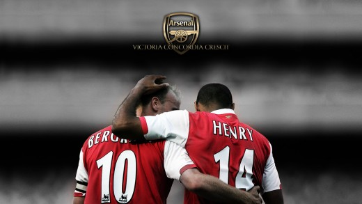 Thierry Henry and Denis Bergkamp
