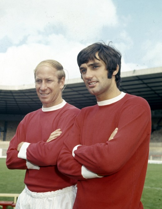 George Best and Sir Bobby Charlton