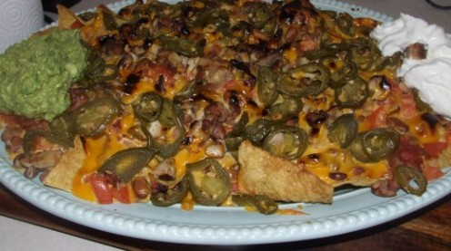 Loaded Jerk Chicken Nachos