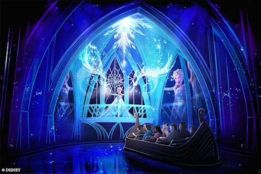 Frozen Theme at Disney World Theme Park