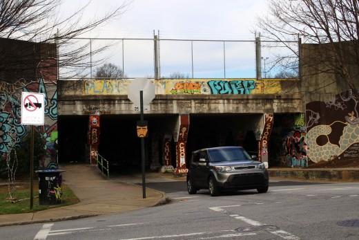 Kroc Street Tunnel- Cabbagetown Entry Side