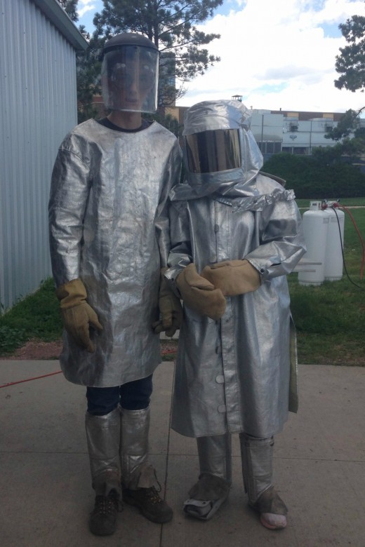 These students attended the FREE Materials, Metallurgy & Forensics Camp at South Dakota School of Mines & Technology in Grand Rapids, South Dakota.  They LOVED it!