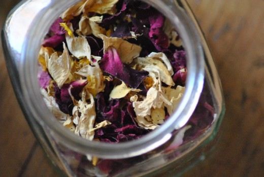 Dried rose petals make a great potpourii.