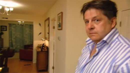 """""""Sore loser 'Poisonous Pete"""". Picture: 'Come dine with Me' - Channel 4"""
