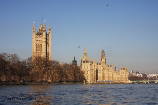 View Of The Houses Of Parliament From The Thames.