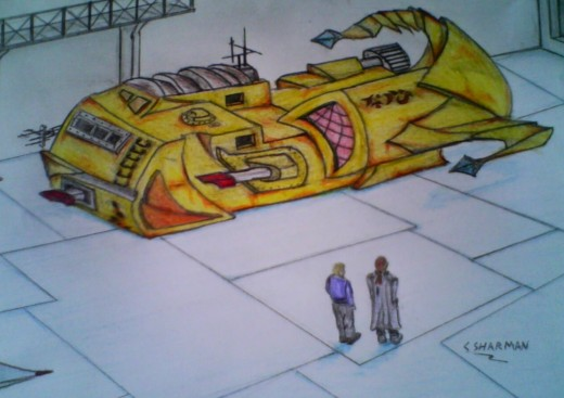 Art work of the scorpion class shuttle