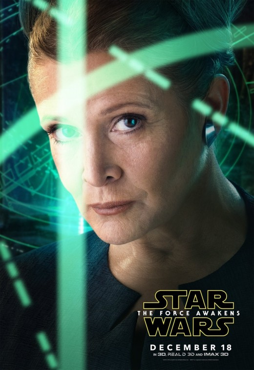 Carrie Fisher as General Leia Organa