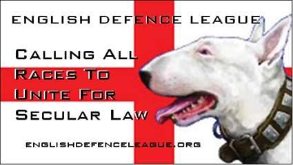 Flag Advertising The English Defence League.