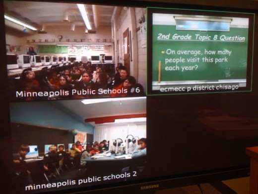 The state of Minnesota makes excellent use of digital whiteboards for videoconferencing.