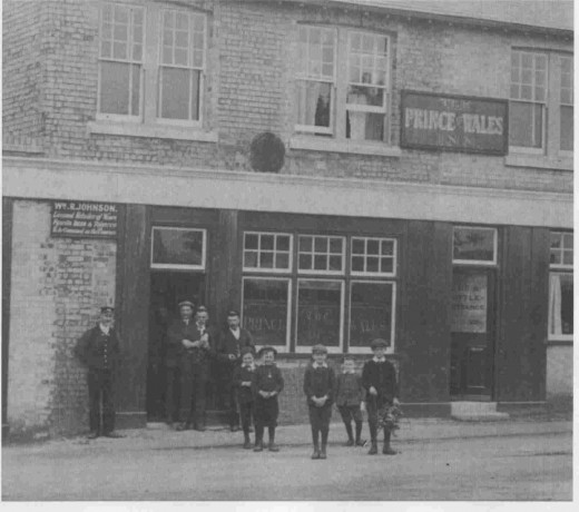 The Prince of Wales pub, mentioned by Albert, was an important part of the local community. It closed in 1999 and is now the site for a food store. Picture courtesy of pubshistory.com