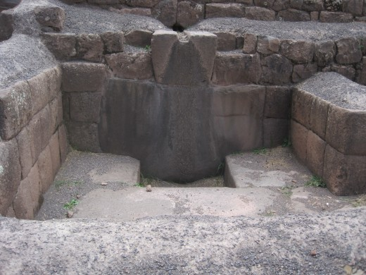 A dry aqua duct in the bathing area.