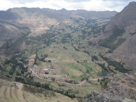 The Sacred Valley from the top of Pisac.