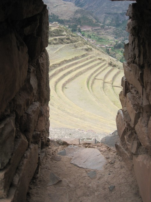 A closer look through the window to the Sacred Valley.