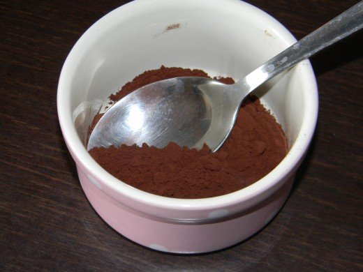 combine the cocoa and coffee and mix well