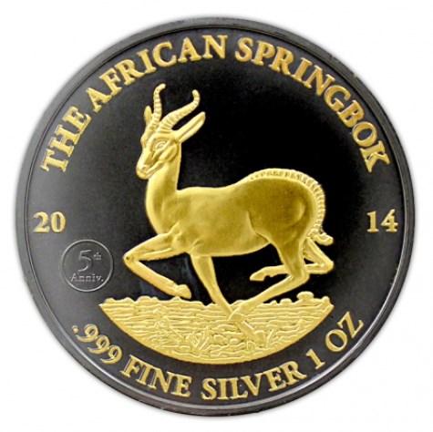 2014 1 OZ Gabon Springbok Coin.