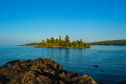 One of many islands surrounding Isle Royale National Park