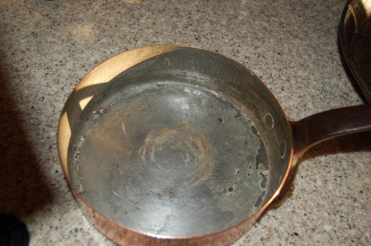 Small fry pan with straight sides