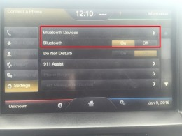"""Turn the Bluetooth functionality on and then tap """"Bluetooth Devices."""""""
