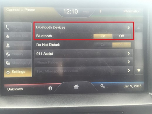 "Turn the Bluetooth functionality on and then tap ""Bluetooth Devices."""